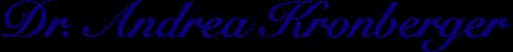 Dr. Andrea Kronberger - Logo